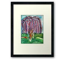 Rainbow Willow Framed Print