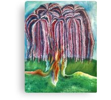 Rainbow Willow Canvas Print