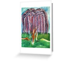 Rainbow Willow Greeting Card