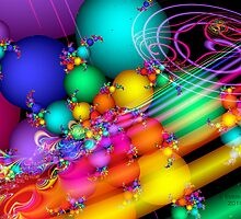Happy Easter Fractal by Julie Everhart