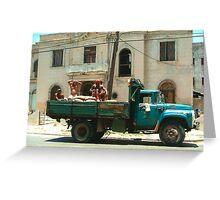 Cuban Truck Greeting Card