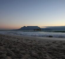 Table Mountain at dusk by fortheloveofit
