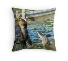 Mouth Wide Open Throw Pillow