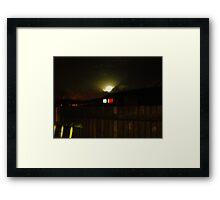 Moon over Upton Framed Print