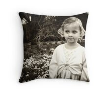 in the snow drops Throw Pillow