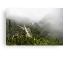 Driving in a Fog Canvas Print