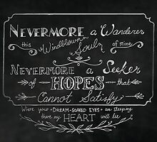 Nevermore A Wanderer by HDodson