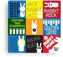 LP the Bunny Albums Canvas Print