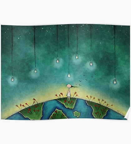 You light up my world Poster