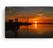 Monkey Island Sunset II Canvas Print