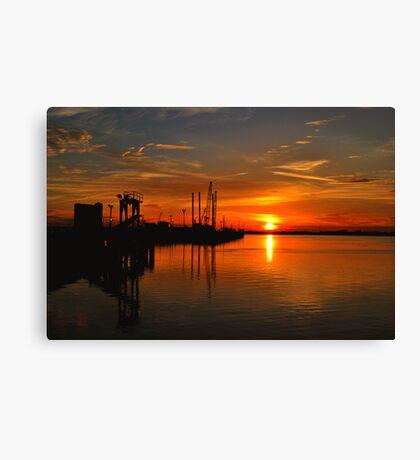 Monkey Island Sunset II Canvas Print