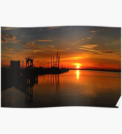 Monkey Island Sunset II Poster
