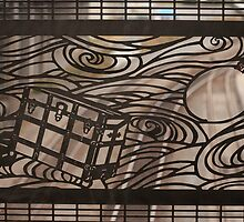 Street art in iron work - travel icons by Carlanne McCrystal
