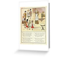 The Glad Year Round for Boys and Girls by Almira George Plympton and Kate Greenaway 1882 0059 Cynthy Ann Greeting Card