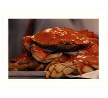 Crabby...all day long Art Print