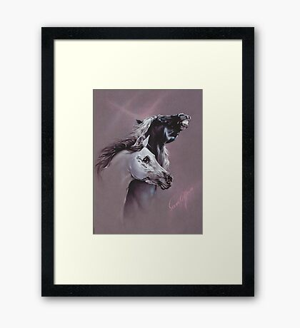 """My Girl!"" in Pastel Pencil Framed Print"