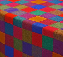 checkered cloth in primary colors by Carlanne McCrystal