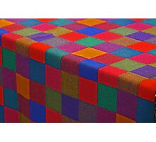 checkered cloth in primary colors Photographic Print