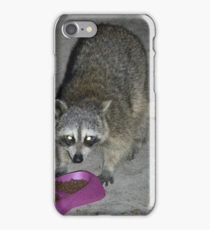 Raccoon's Full Bandito Image iPhone Case/Skin