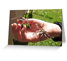 A SPIDER IN THE HAND. Greeting Card