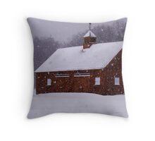 Winter Barn II Throw Pillow