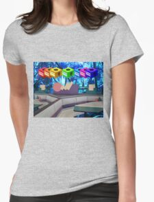 rain forest flowers Womens Fitted T-Shirt