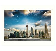 The Real Shanghai (Landscape) Art Print
