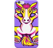 Relaxing Horse Pink Yellow and White iPhone Case/Skin