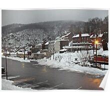 Winter Evening - Harper's Ferry - West Virginia © 2010 Poster