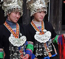 Girls of Miao nationality by nicolaMY
