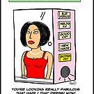 Woman's Vanity Mirror Cartoon by David Stuart