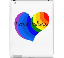 Love Wins 2 iPad Case/Skin