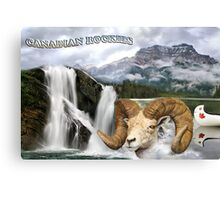 Postcard from Canadian Rockies Canvas Print