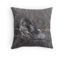 The Northern Gray in the Northern Winds Throw Pillow