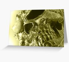 Holloween Skull Greeting Card