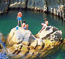 The Boys of Riomaggiore,Italy by Holguinism