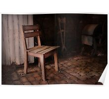 The Wooden Chair ~ Monte Cristo Poster