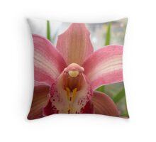 Terra Cotta Orchid Throw Pillow