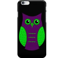 Purple and Green Owl iPhone Case/Skin