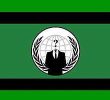 Anonymous Flag by Chillee Wilson by ChilleeWilson