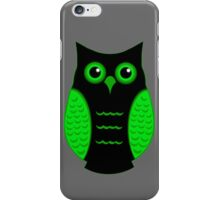 Black and Green Owl iPhone Case/Skin