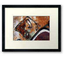 Diamonds in the Rust Framed Print