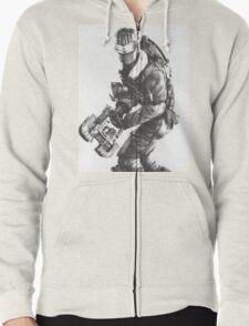 Dead Space 3 Arctic Survival Sketch Zipped Hoodie