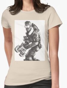 Dead Space 3 Arctic Survival Sketch Womens Fitted T-Shirt