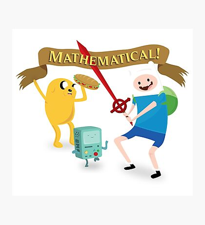 Mathematical Adventure Time! Photographic Print