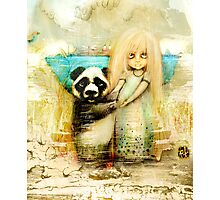 Panda and Snowdrop Photographic Print