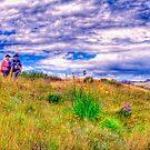 Hikers on Holhoek Trail by JandeBeer