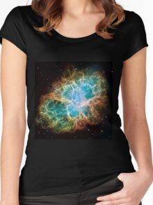 Galaxy Crab Women's Fitted Scoop T-Shirt