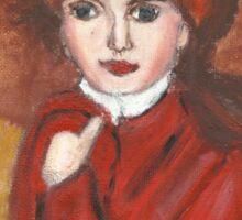 Portrait Of Countess Golovin(after Elisabeth Vigee LeBrun(OriginalSold$) Sticker