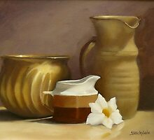 Still Life With Flower by Margaret Stockdale